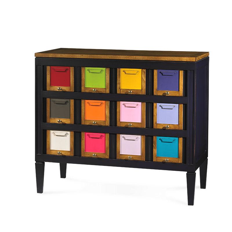 commode pastilles couleurs. Black Bedroom Furniture Sets. Home Design Ideas