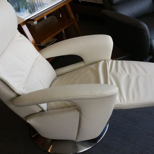 Fauteuil relax Blanc ouvert